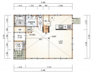新成一丁目1階平面図