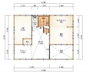 新成一丁目2階平面図