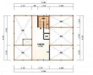 新成一丁目R階平面図